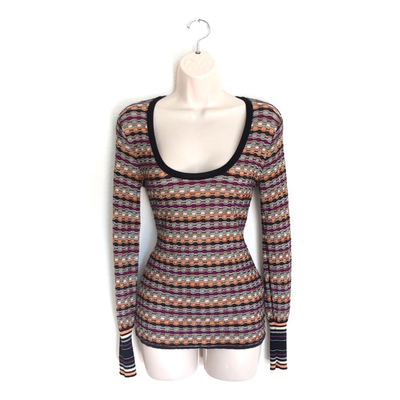63969d74f Missoni Tops | M Long Sleeve Knit Top | Poshmark